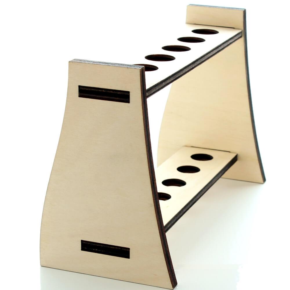 reagenzglasst nder holz. Black Bedroom Furniture Sets. Home Design Ideas